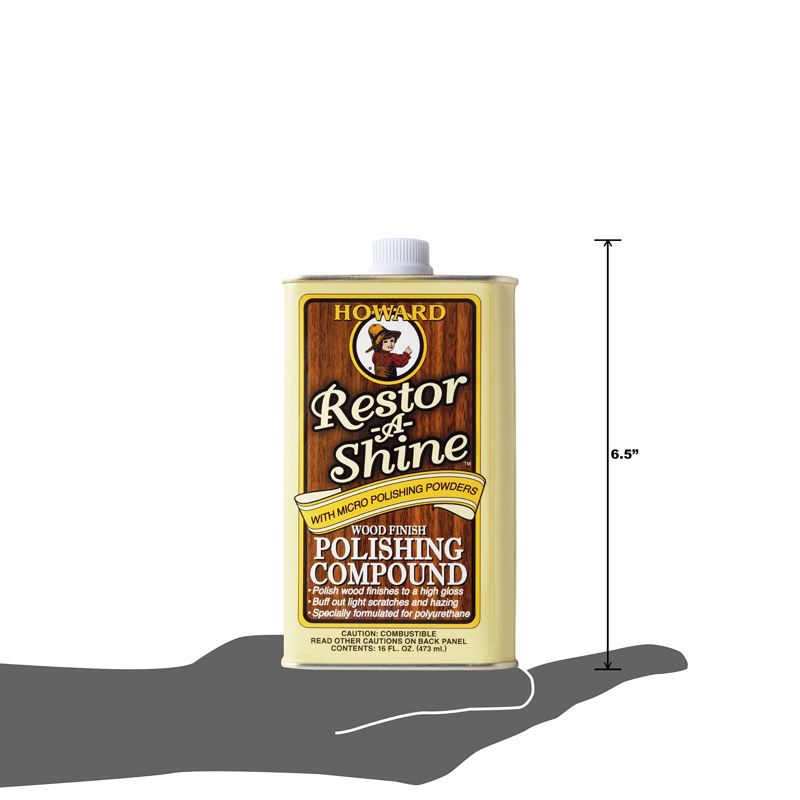 Howard RS0016 Restor-A-Shine Wood Finish Polishing Compound - 16 oz by Howard Products