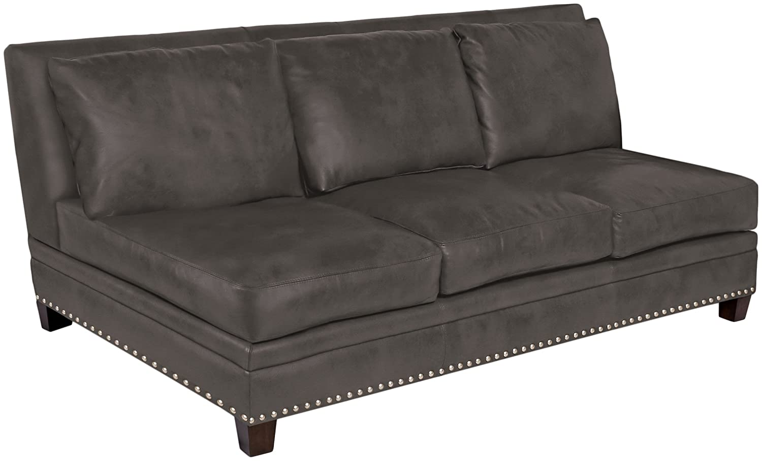 Excellent Amazon Com Omnia Leather Glendora Armless 3 Cushion Sofa In Bralicious Painted Fabric Chair Ideas Braliciousco