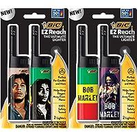 BIC EZ Reach Lighter, Bob Marley, 4-Pack (Assortment of Designs Will Vary)