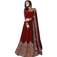 Karva Fashion Women Georgette Long Anarkali Salwar Suit/Gown With Dupatta