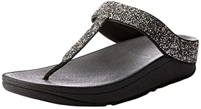 d3d6763cf26343 FitFlop Women s Fino Quartz Toe-Thong Sandals Black 5