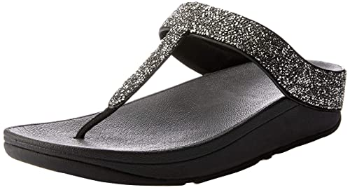 37d68f27a139b6 Fitflop FINO Quartz Ladies Toe Post Sandals Black  Amazon.co.uk ...