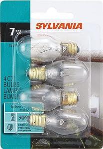 SYLVANIA Home Lighting 13545 Incandescent Bulb, C7-7W-2850K, Clear Finish, Candelabra Base, Pack of 4