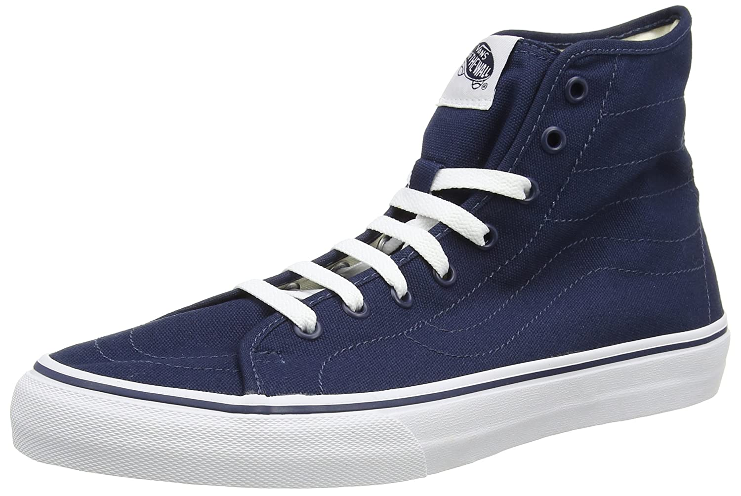 Vans U SK8-HI Unisex-Erwachsene Hohe Sneakers  43 EU|Blau ((Canvas) Dress Blues/True White)