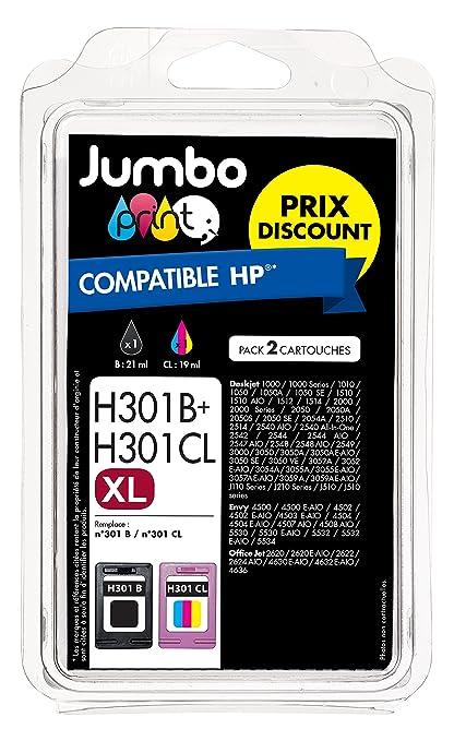 Jumbo Print JP012802 - Pack de 2 cartuchos de tinta, compatibles ...