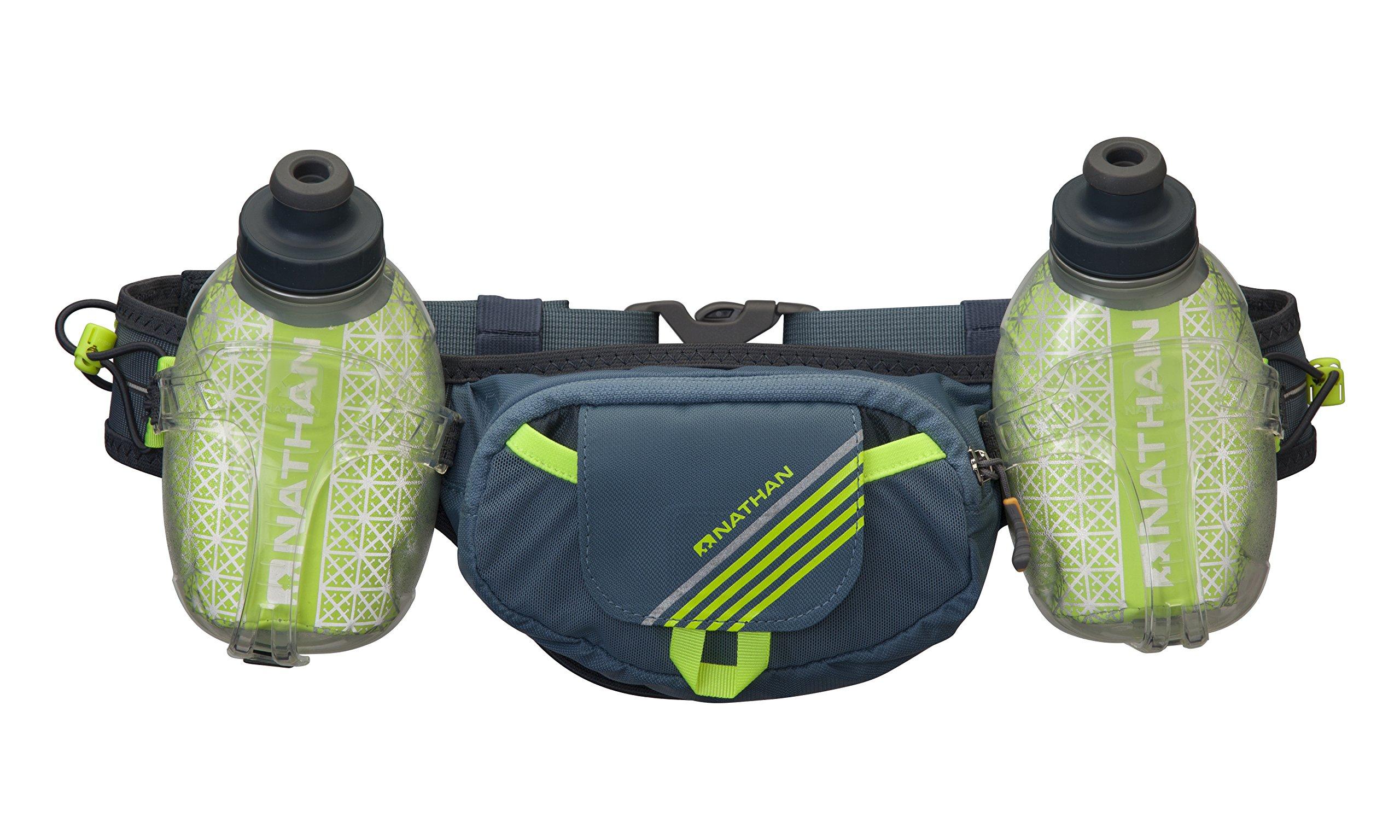 Nathan Trail Mix Plus Insulated Hydration Belt, Bluestone, One Size