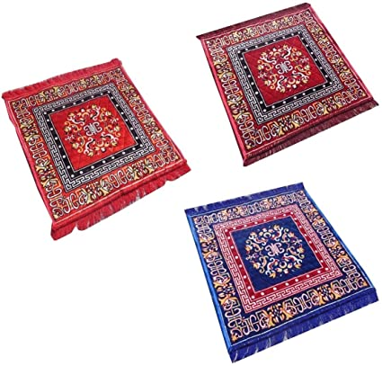 Yellow Weaves Multicolour Pooja Aasan Mats (2 Ft x 2 Ft) (3)