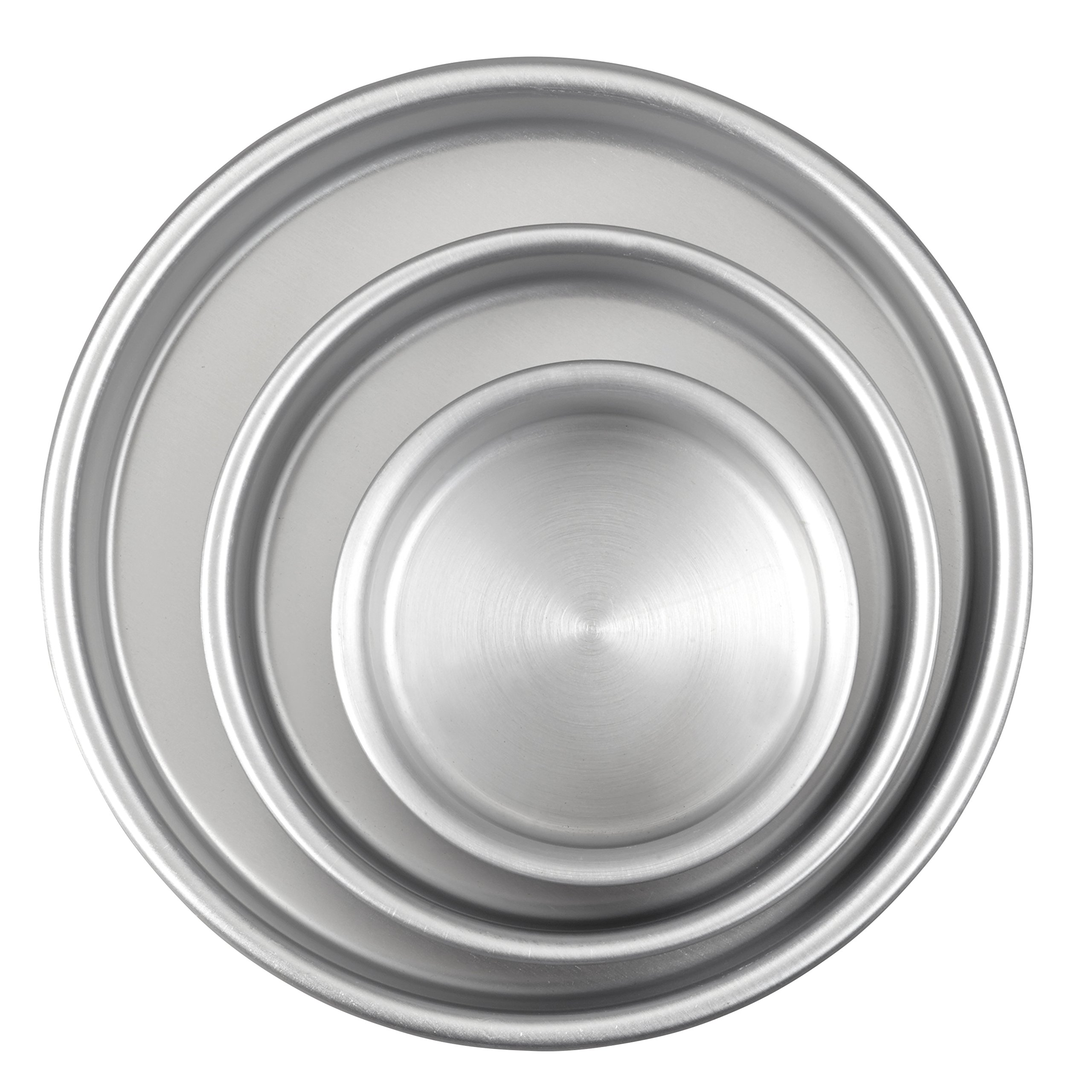 Aluminum Round Cake Pans, 3-Piece Set with 8-Inch, 6-Inch and 4-Inch Cake Pans by Wilton