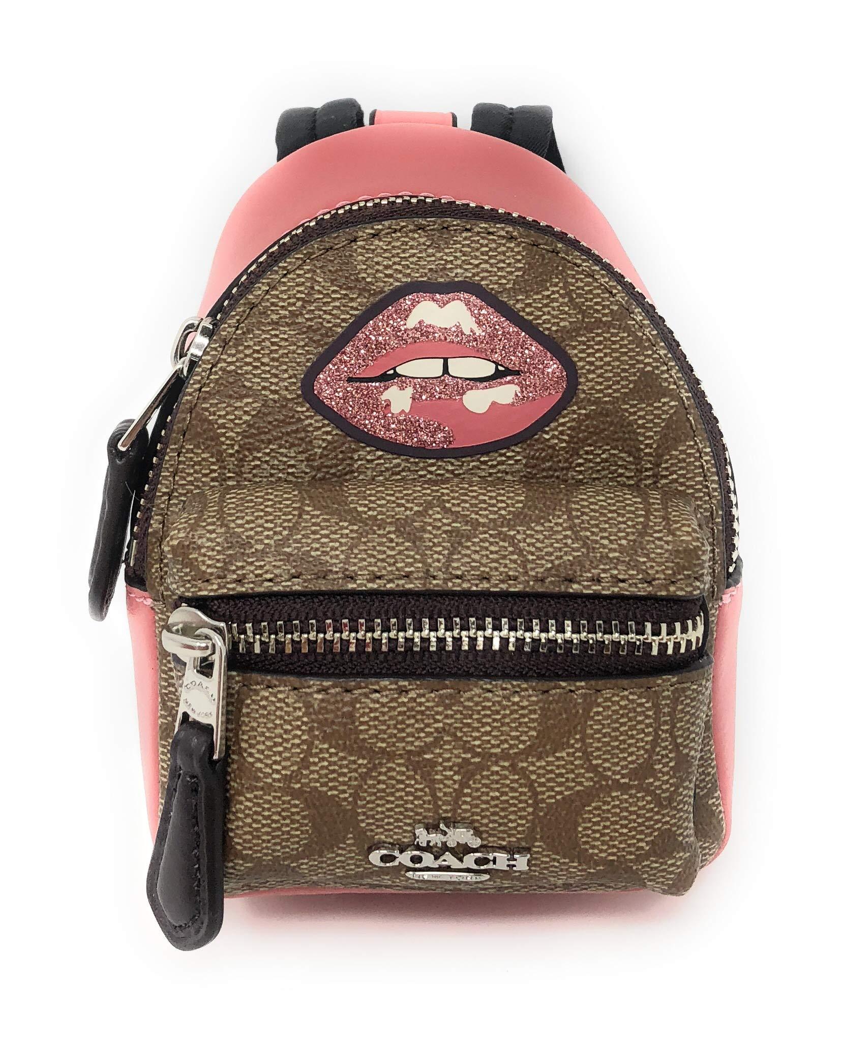 Coach Signature Backpack-Bag Coin Case Charm Key Chain