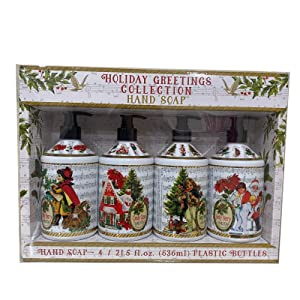 Home & Body Holiday Greetings Collection Hand Soap - 4 Bottles, 21.5 fl oz each
