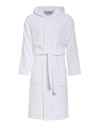 c6876de3e6c49 Peignoir de Bain pour Hommes RE-854 - avec Capuche - 100% Coton éponge -  Bonne qualité: Amazon.fr: Vêtements et accessoires