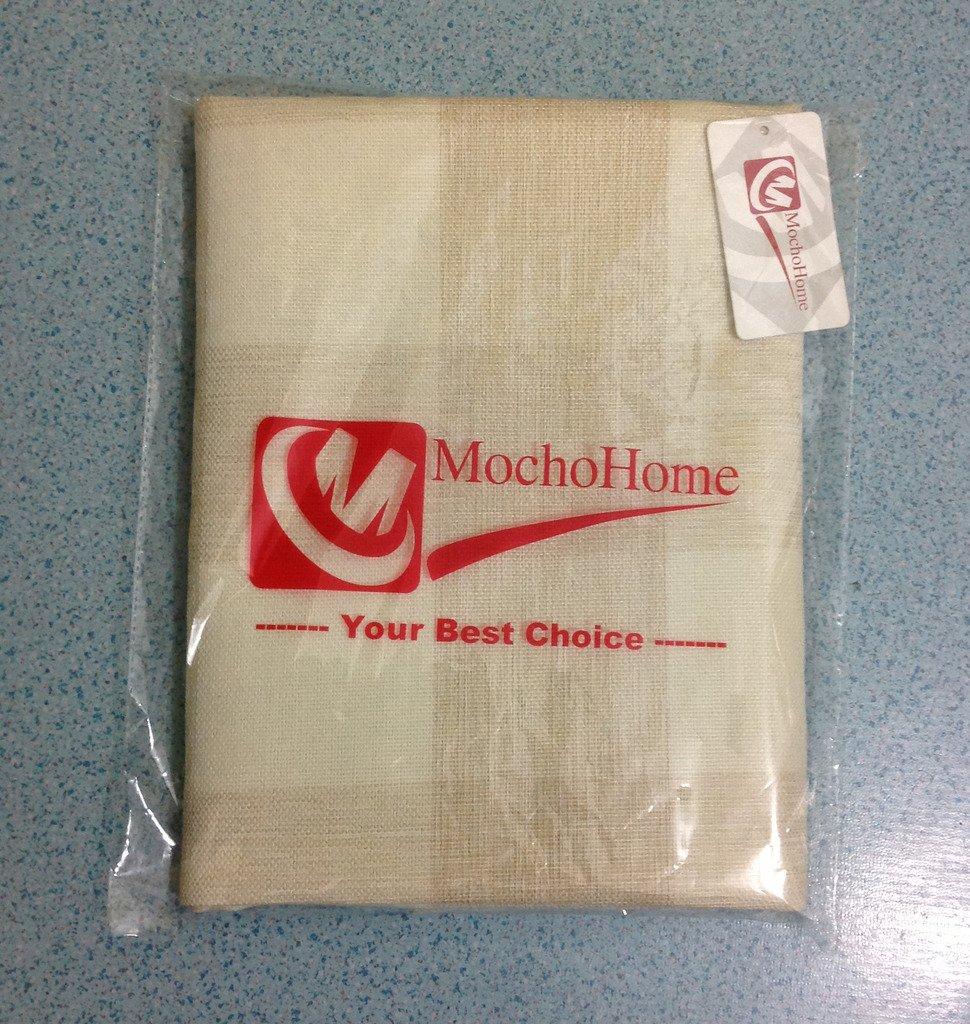 M MOCHOHOME Linen Plaid Checkered Square Decorative Throw Pillow Cover Case Pillowcase Cushion Sham - 24'' x 24'', Black/White