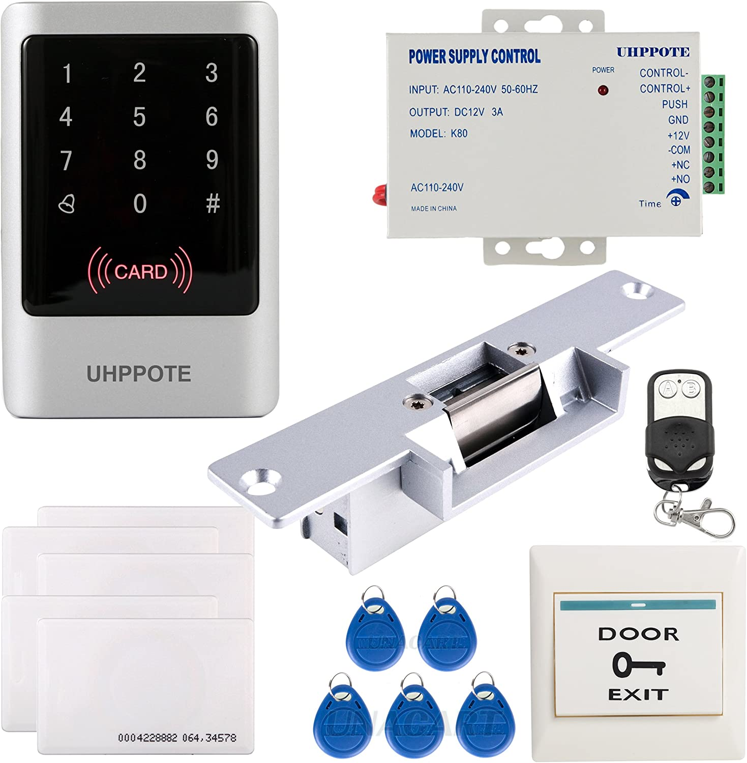 Full Complete Waterproof Outdoor Use 125khz Rfid Em Id Card Single-door Stand-alone Access Control Kit Home Improvement