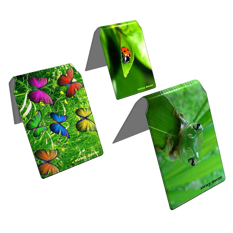 Stray Decor (Green) 3x Buspass/ Fahrkartenhalter im Brieftaschenformat, IsarCard, fahrCard, RMV Clevercard, Kolibricard oder Karteninhaber auf Reisen Kombi