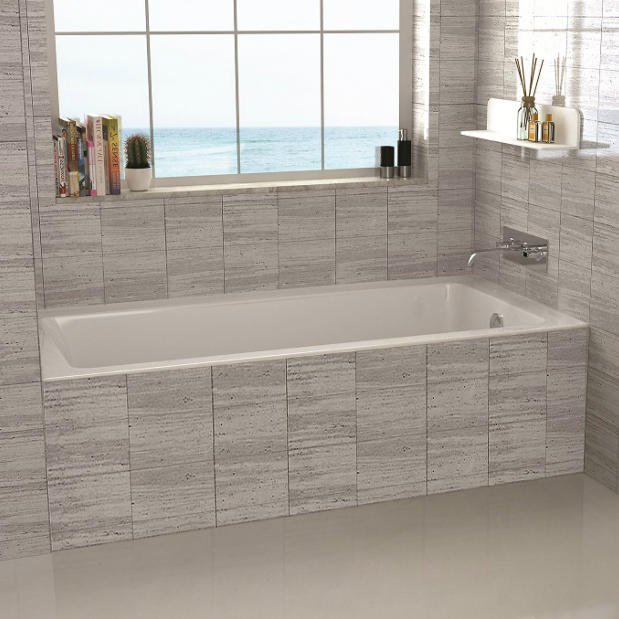 Drop in 54'' x 30'' Soaking Bathtub by Fine Fixtures