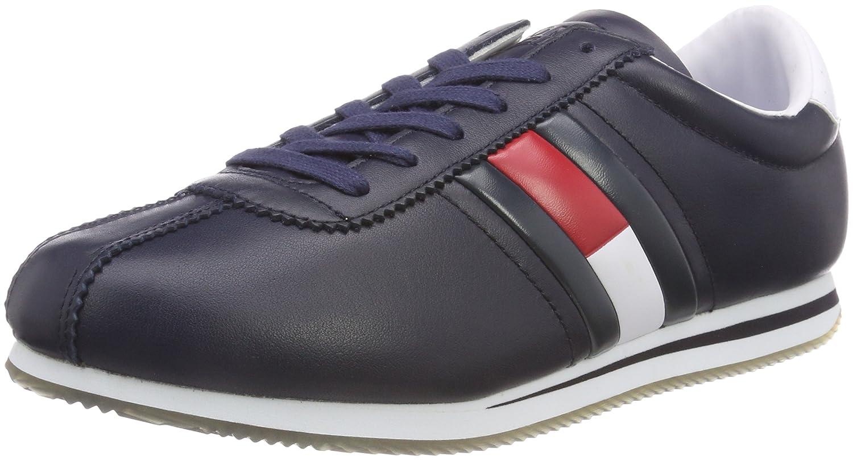 TALLA 42 EU. Tommy Jeans Retro Flag Sneaker, Zapatillas para Hombre