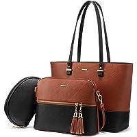 バッグ レディース トートバッグ ショルダーバッグ ハンドバッグ 通勤 鞄女性用 3点セット 切り替え色 底鋲 a4 ビジネス 入学式 誕生日プレゼント