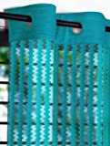 Story at Home 350 GSM Polyester 2 Pieces Door Curtain, Aqua, 215 cm x 120 cm