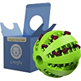 Zenify Puppy Toys Dog Toy Food Treat Interactive Puzzle Ball for Tooth Teething Chew Fetch Tennis Training Boredom…