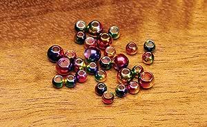 qty 25     MR332 Multihued Rainbow Brass Beads 3//32/'