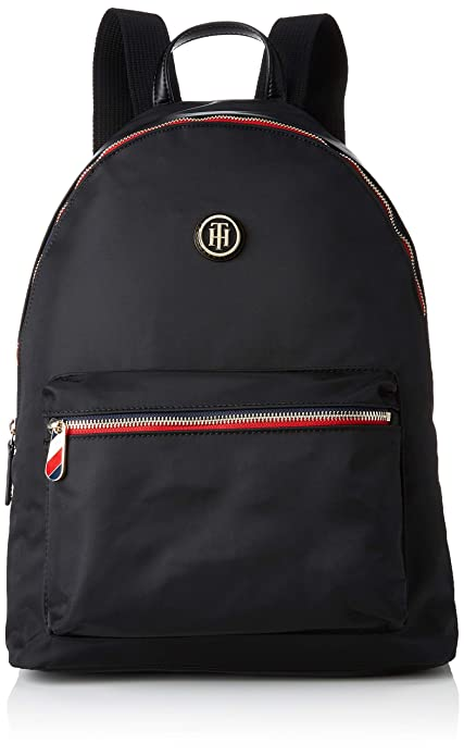 4c9d74cf6 Tommy Hilfiger - Poppy Backpack, Mochilas Mujer, Negro (Black), 13x40x30 cm