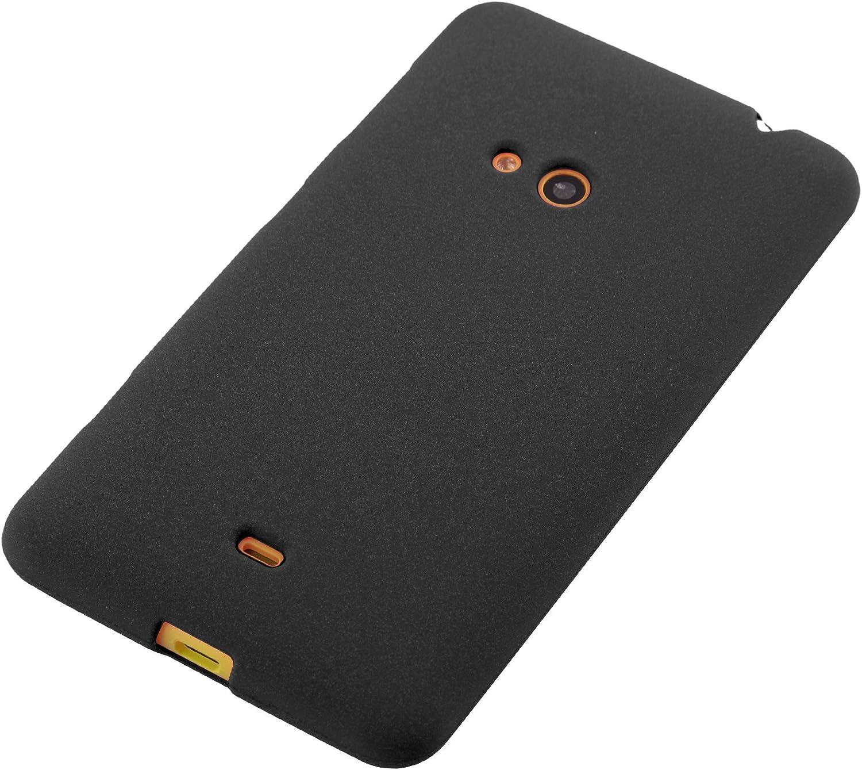 Housse Protection Souple en Silicone TPU avec Anti-Choc et Anti-Rayures Cadorabo Coque pour Nokia Lumia 625 en Frost Noir Ultra Slim Fin Gel Case Cover Bumper