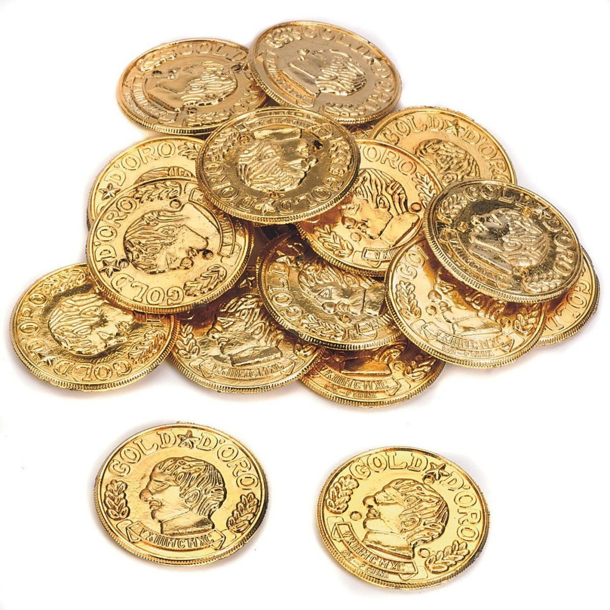 U.S. Toy Plastic Gold Coins