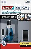 Tesa 383591 - Pack de 2 tiras adhesivas de velcro