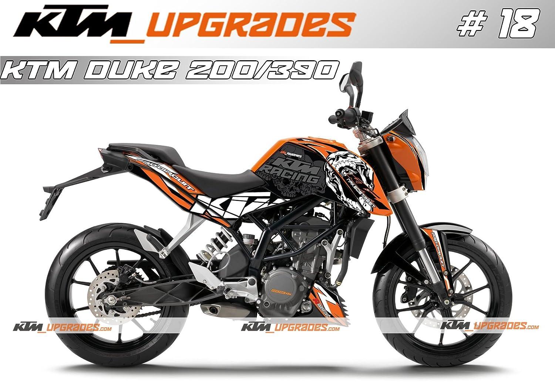 Ktmupgrades custom decal set 18 for ktm duke 125 200 390