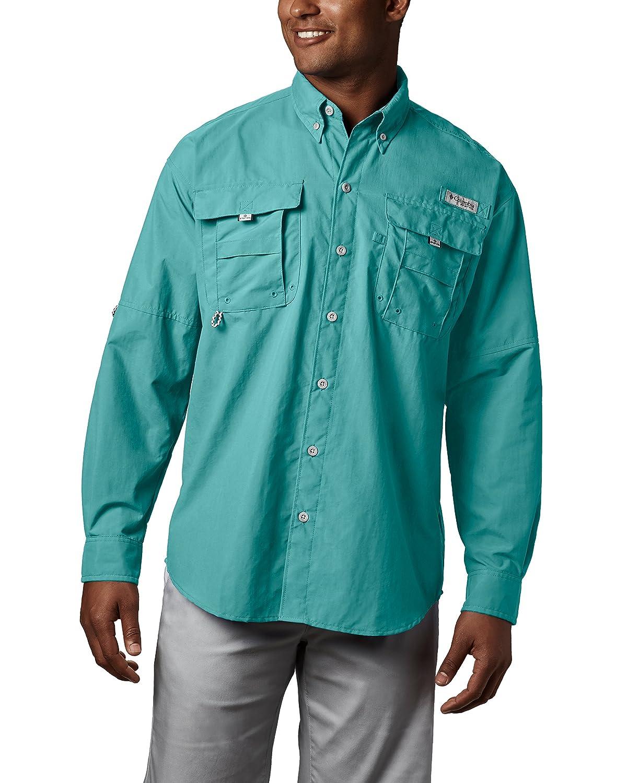 Columbia Sportswear hombres de Bahama II de manga larga, hombre, color Gulf Stream, tamaño large large|Gulf Stream