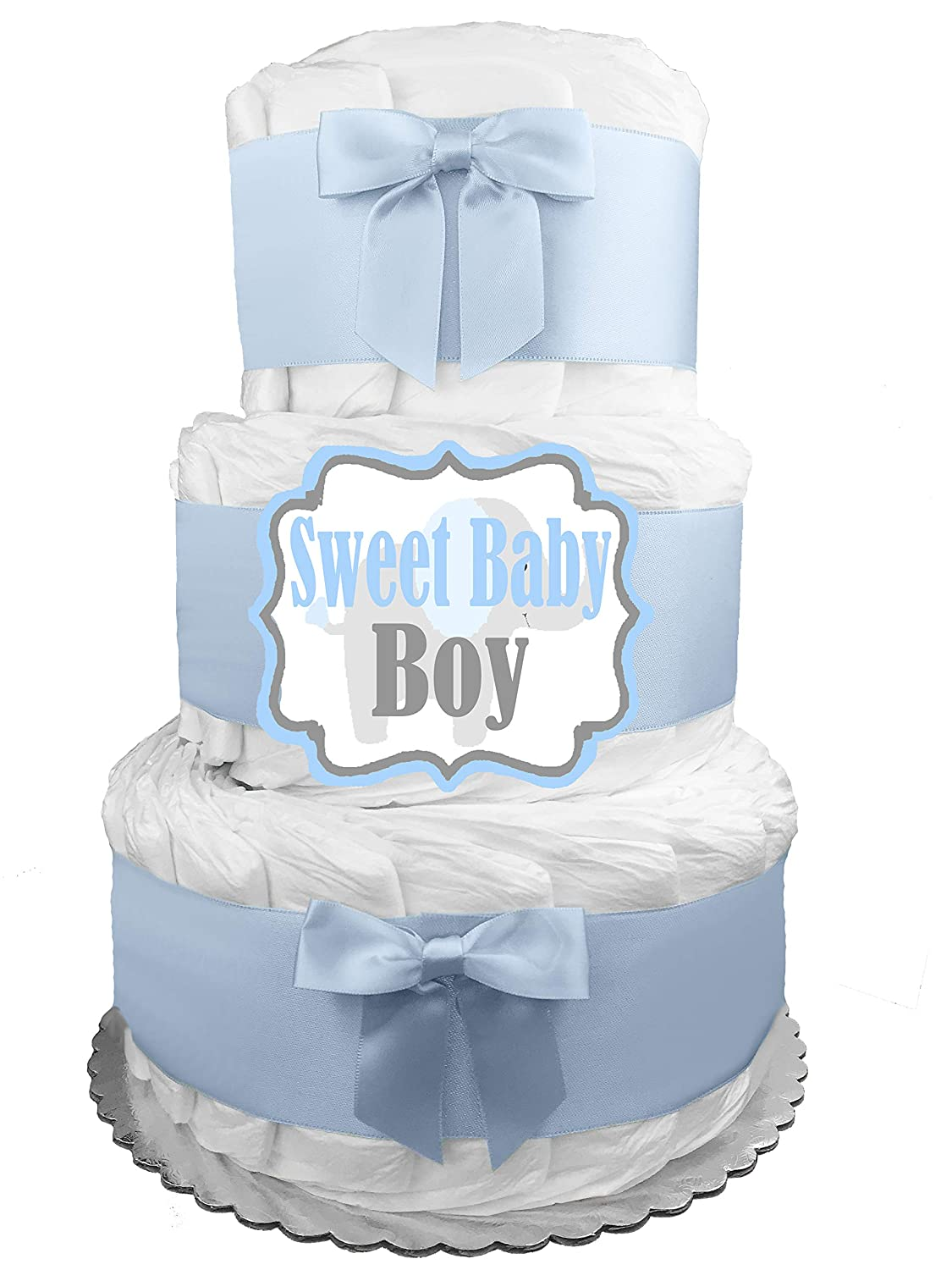 FREE POSTAGE!! 1 Tier Cream Neutral Nappy Cake  Baby Shower Gift