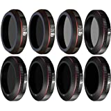 Freewell All Day – 4K Series – 8Pack ND4, ND8, ND16, CPL, ND8/PL, ND16/PL, ND32/PL, ND64/PL Camera Lens Filters Made for DJI Mavic 2 Zoom Drone