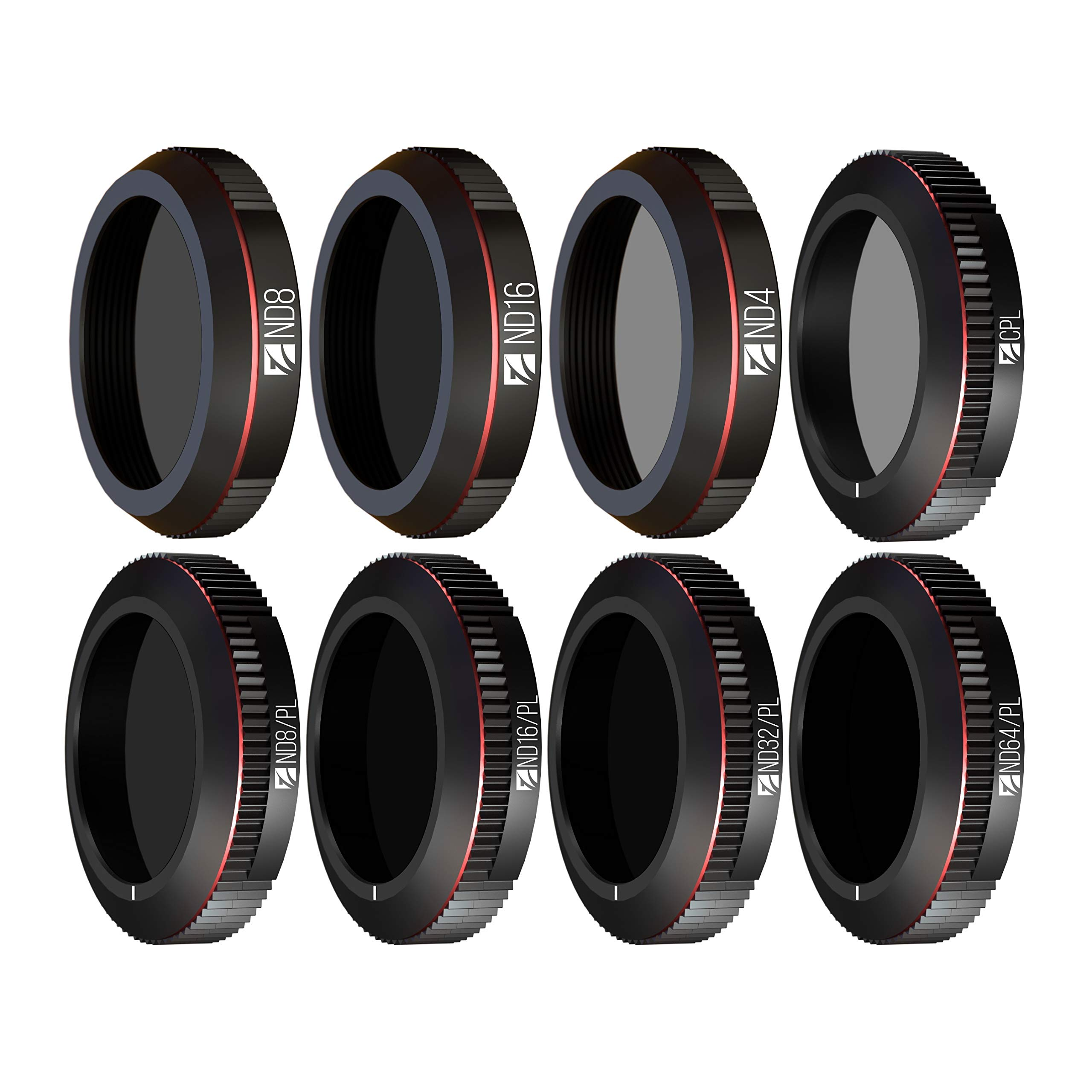 Freewell All Day - 4K Series - 8Pack ND4, ND8, ND16, CPL, ND8/PL, ND16/PL, ND32/PL , ND64/PL Filters Compatible with DJI Mavic 2 Zoom / Enterprise by Freewell