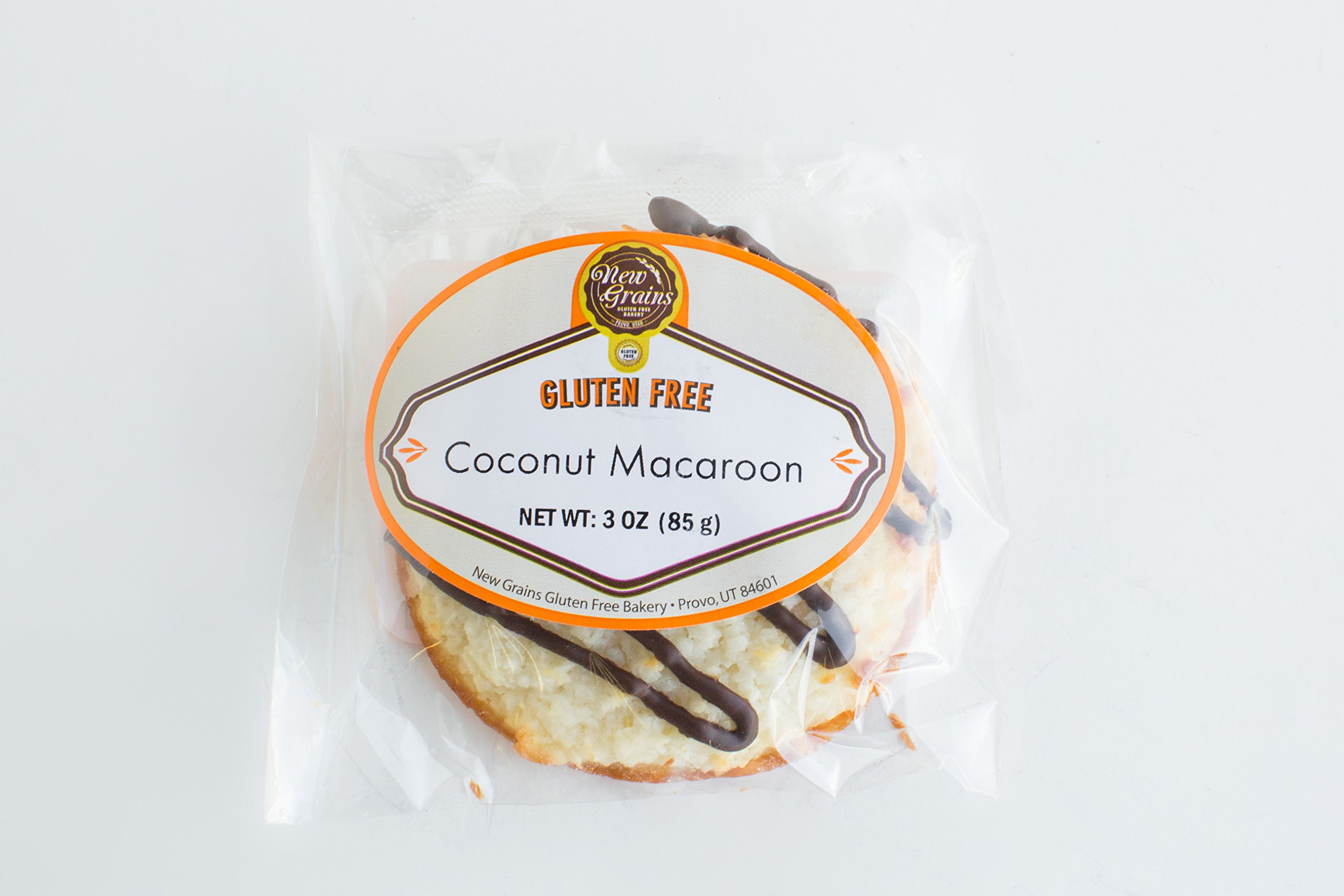 New Grains Gluten Free Coconut Macaroons Cookies 10 Pack by New Grains Gluten Free Bakery