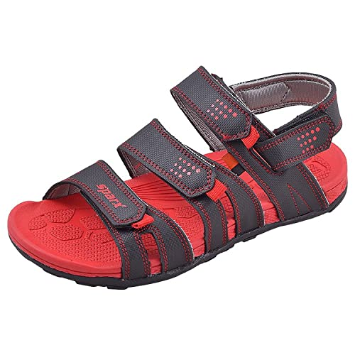 29e986719 Sparx Men s Casual Wear Black and Red Coloured Floaters Size 7 UK - SS434- BlackRed-7  Buy Online at Low Prices in India - Amazon.in