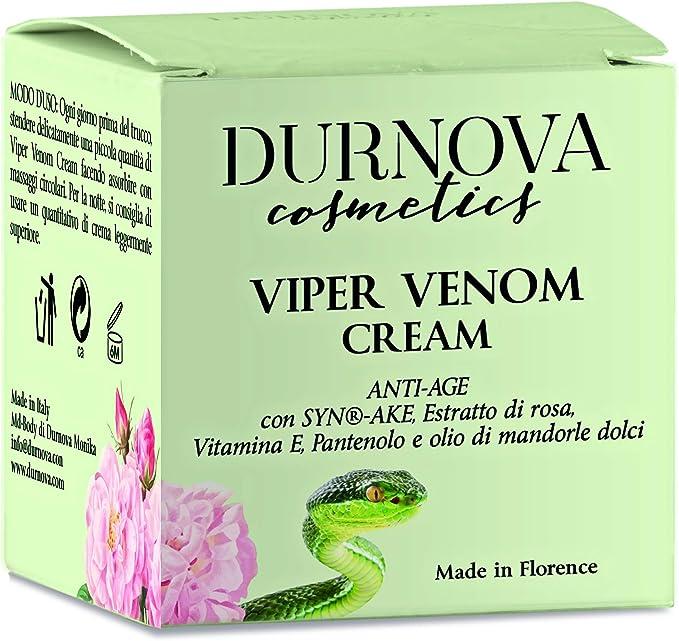 Crema Natural De Veneno De Víbora Aceite De Almendras Dulces Vitamina E ácido Hialurónico Arginina Hidrolato De Rosa Damascena 50 Ml Fabricado En Italia Amazon Es Belleza