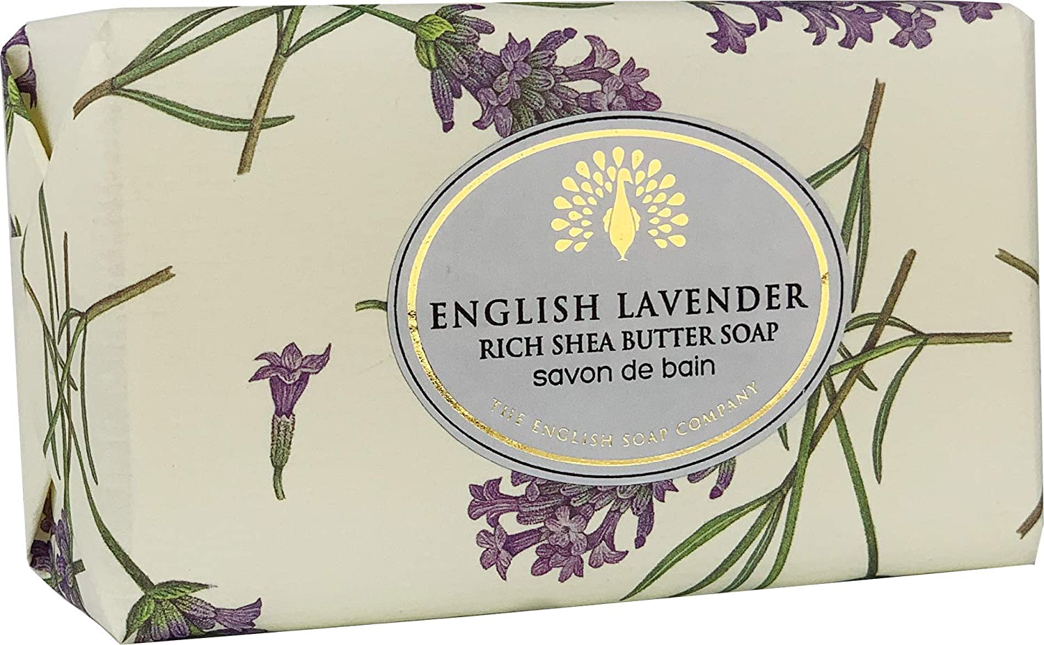 The English Soap Company, Vintage Wrapped Shea Butter Soap, English Lavender, 200g