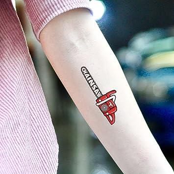 Tatuaje Temporal de Motosierra (2 Piezas) - www.ohmytat.com ...