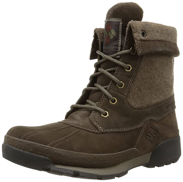 ColumbiaBugaboot Original Omni-Heat - Stivali Uomo, Marrone (Marron (Grizzly Bear Collegiate Navy)), 41,5