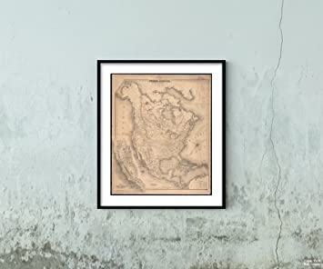 Amazon Com 1852 Map Title Map Of North America Notes Relief Shown