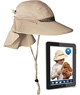 caafea80 Kids' Play Hat Sun Protection Cap UPF 50+ Outdoor Safari w/Neck Cover