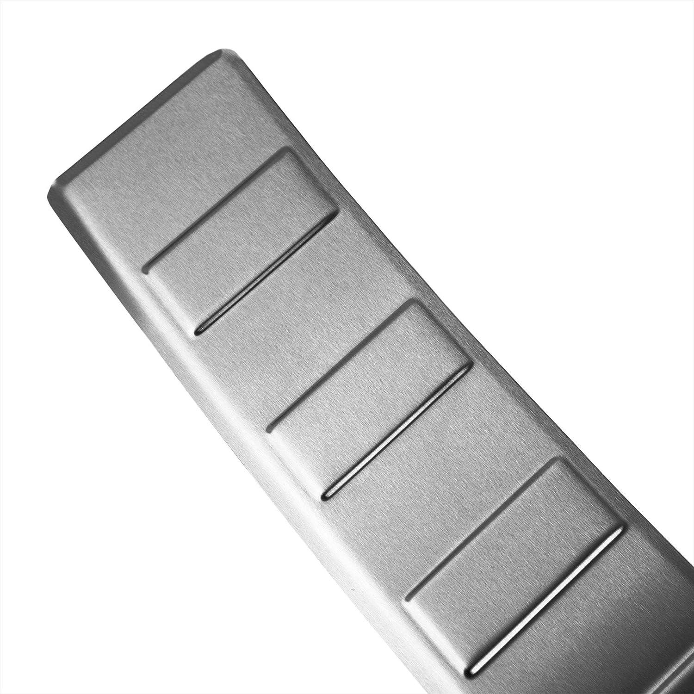 Aroba Ar1178 Br Edelstahl Gebürstet Ladekantenschutz Kompatibel Für Glc Auch Für Amg Ab Bj 09 2015 Bis 04 2019 Passgenau Mit Abkantung Farbe Silber Auto