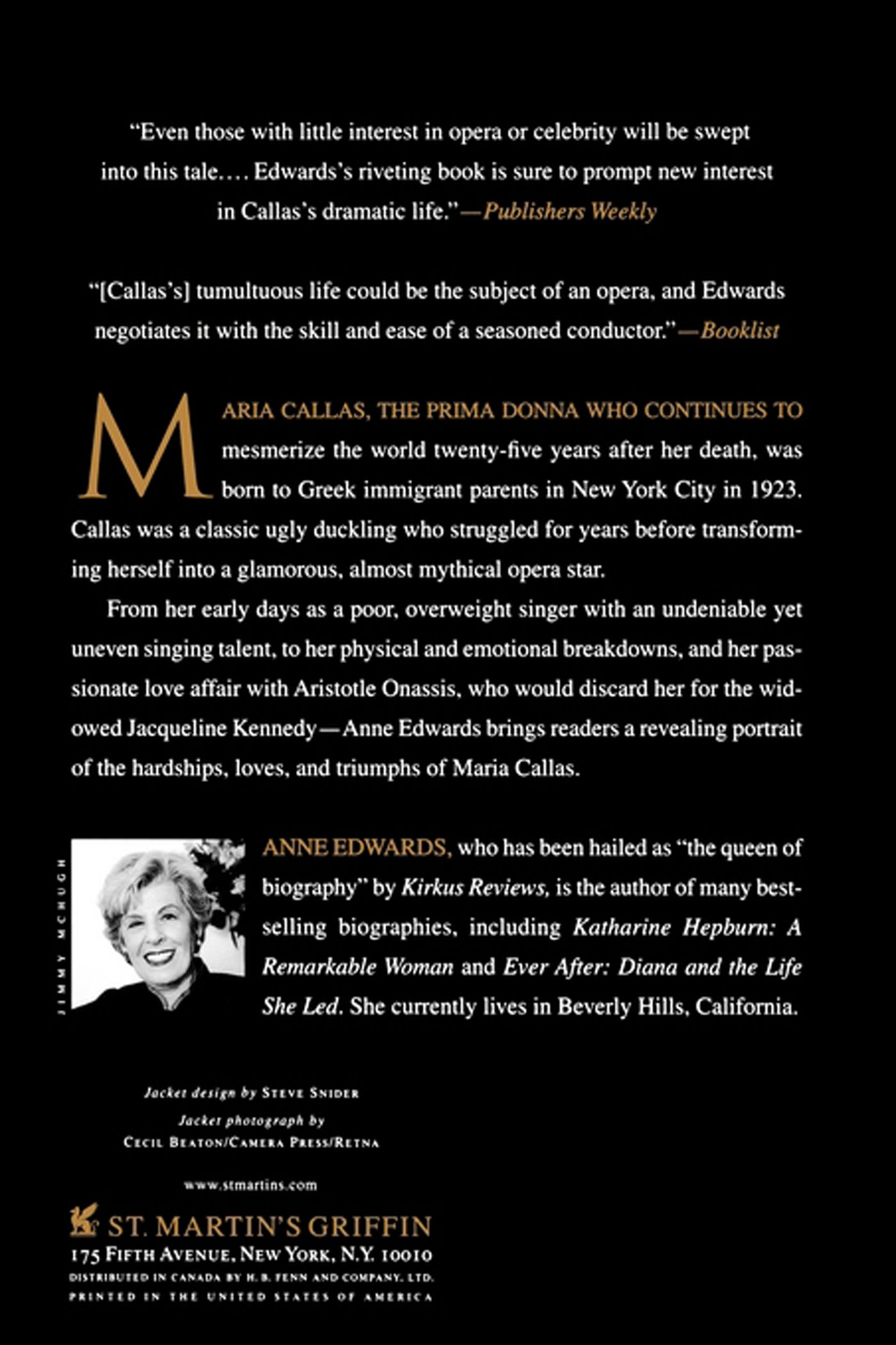 Maria callas an intimate biography anne edwards 9780312310028 maria callas an intimate biography anne edwards 9780312310028 amazon books fandeluxe Image collections