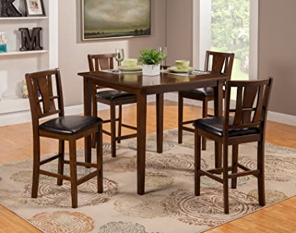 Bon Alpine Furniture 1436 Dining Del Rey 5 Piece Pub Set