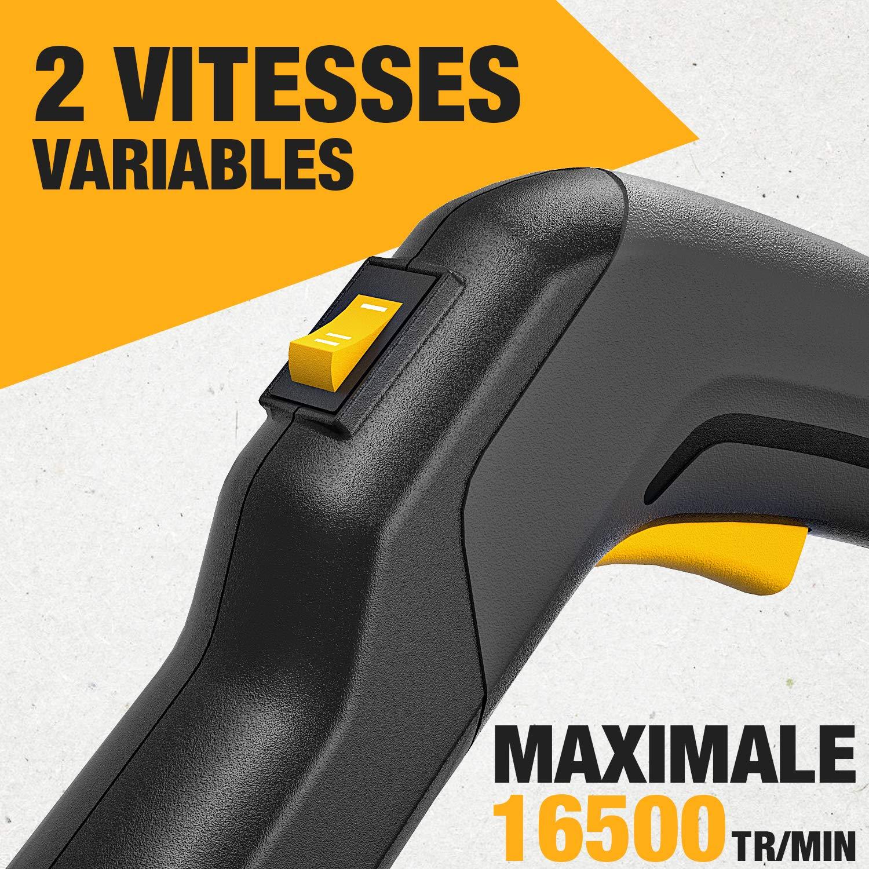 Ventilateur Axial D/ébit d/'Air 606 m/³//h TDAB03G 28V 4.0Ah TECCPO Souffleur de Feuille Vitesse de Soufflerie 54 m//s Vitesses Variables 9000//16500 TR//Min Souffleur Electrique