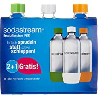SodaStream Zestaw Promocyjny Butelek Z Odpornego Na Pęknięcia, Krystalicznie Czystego PET, 1 Litr 2 + 1 Sztuki, W…