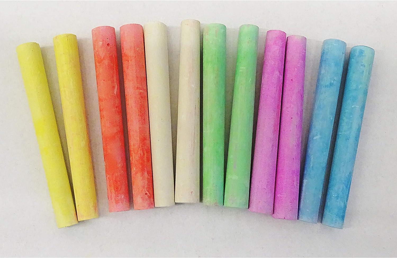 60 Stück Tafelkreide Kreide Farbig Schulkreide Straßenkreide Malkreide 5 Farben
