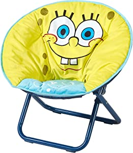 "Idea Nuova Nickelodeon Spongebob Squarepants Toddler Mini Saucer Chair, 18"" Frame"