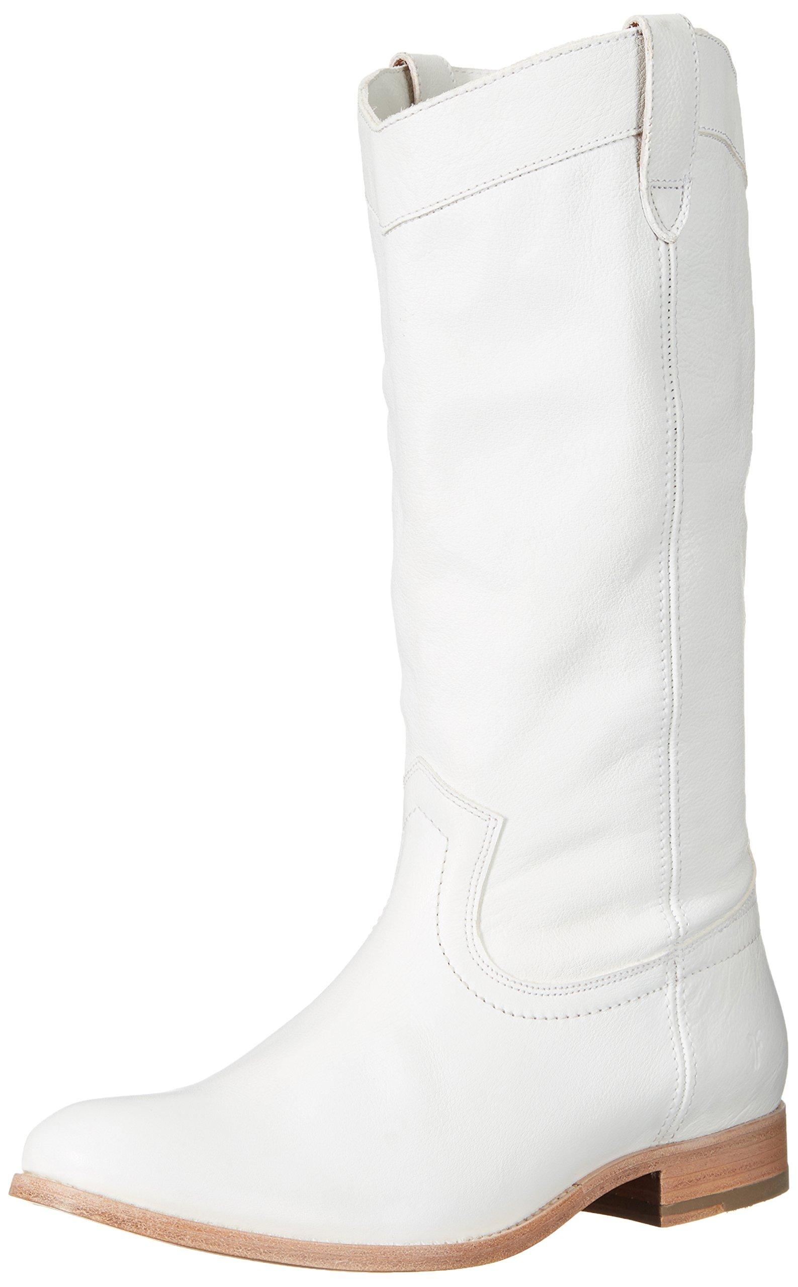FRYE Women's Melissa Pull On Fashion Boot, White, 6 M US