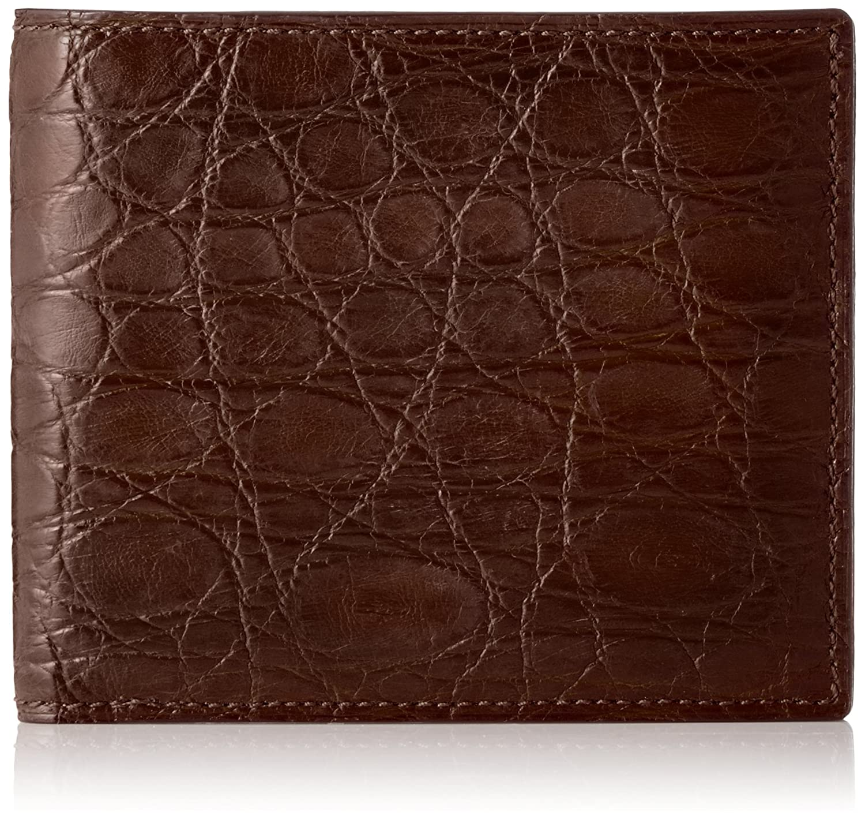 [セパージュ] 財布 ワニ革 二つ折り財布 カードポケット付き 小銭入れなし 紳士用 日本製 CPAA003NT B01L6QFOW0 ダークブラウン ダークブラウン